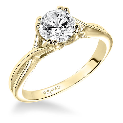14kt. yellow gold solitaire.