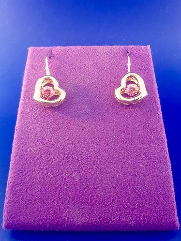 Twinkle Swarovski cut CZ and sterling silver earrings