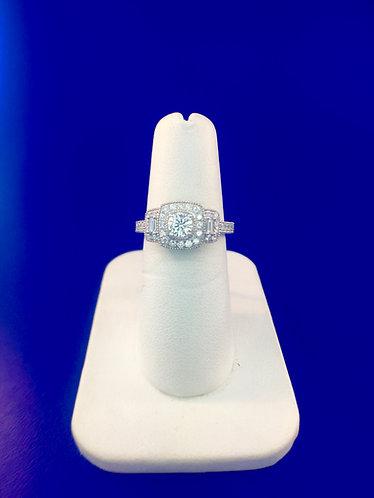 14kt. white gold diamond ring