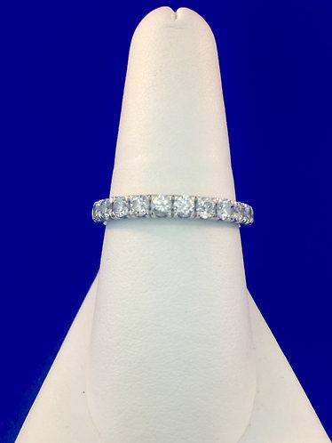 14kt. white gold diamond band