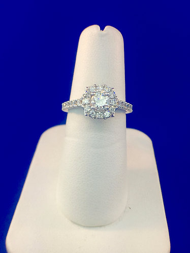 14kt. white gold diamond engagement ring