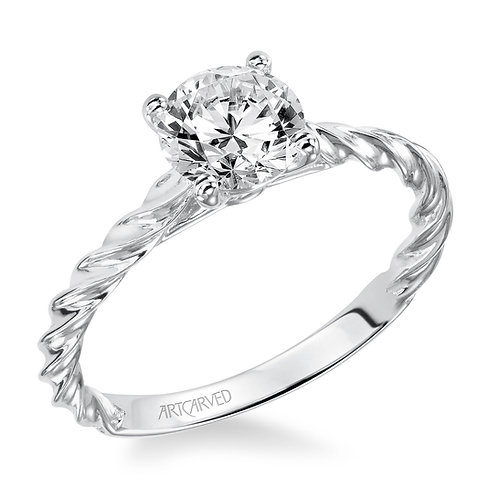 14kt. white gold solitaire mounting.