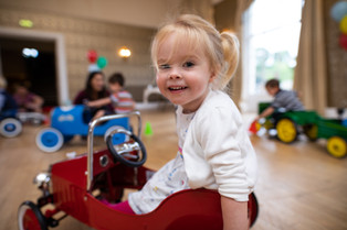 Little girl enjoying a Dinky Drivers party in Bristol.