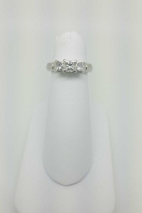 Platinum Princess cut 3stone ring