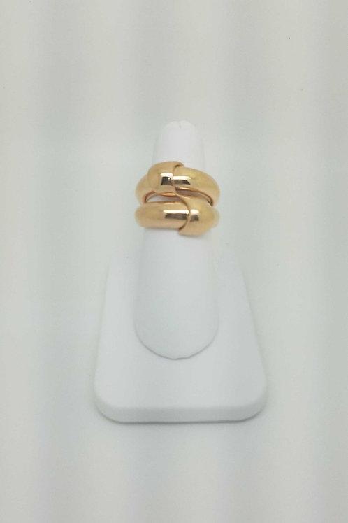 14k rose gold italian design ring