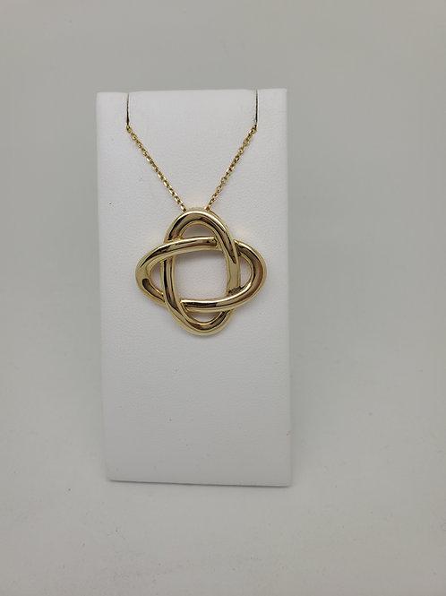 14k yellow gold Celtic pendant