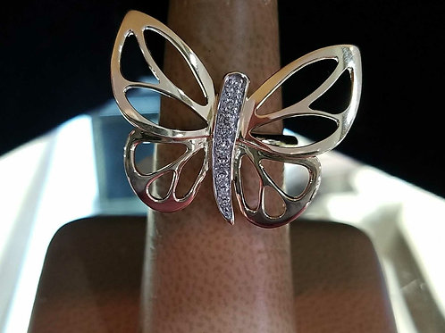 14k Yellow Gold Butterfly Ring
