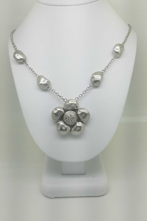 14k white gold Italian gold Necklace
