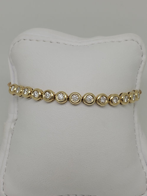 14k yellow gold diamond bolo bracelet