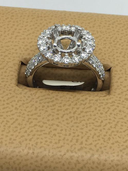 18k Diamond Semi Mount