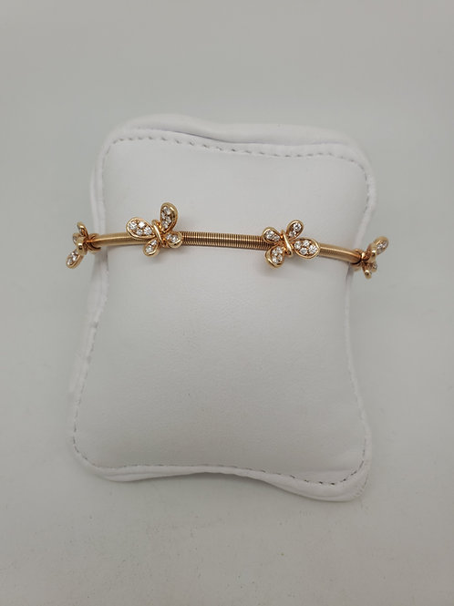 18k rose gold butterfly cuff bracelet