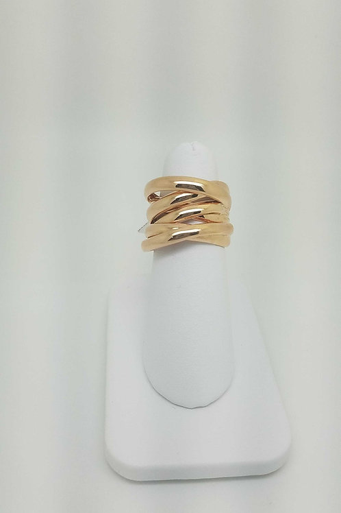 14k rose gold italian design ring