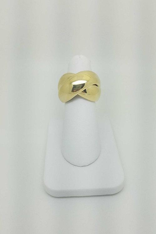 14k yellow gold italian design ring