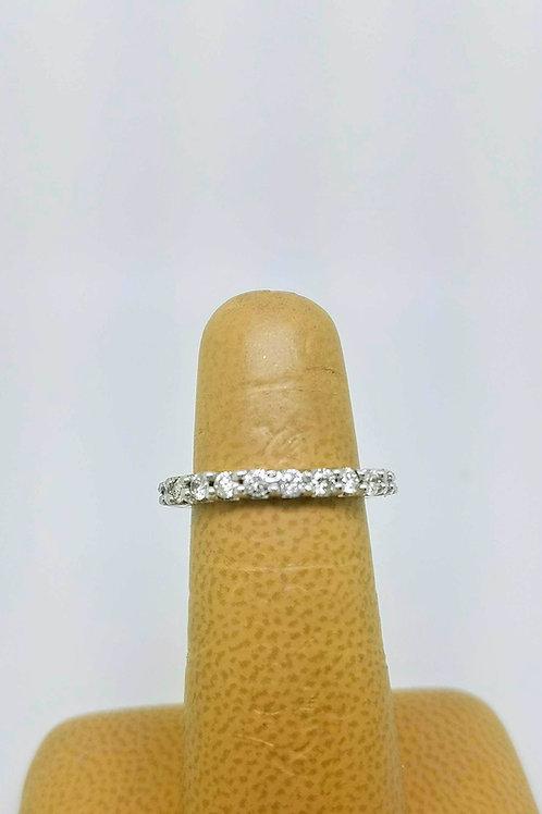14K WHITE GOLD ETERNITY DIAMOND RING