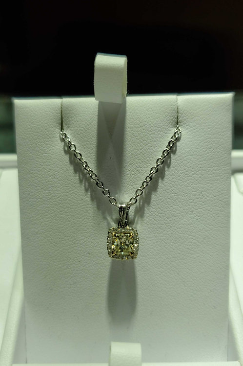 14 carat white gold diamond