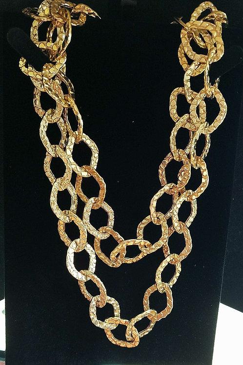 14k Italian Design Neclace & Bracelet set