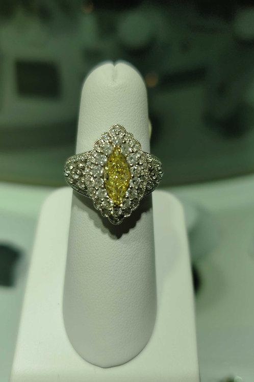 18k Yellow & white Diamond Ring