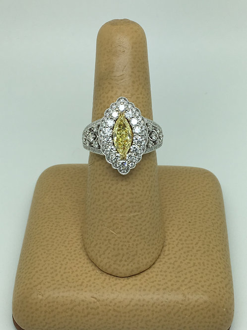 Yellow  diamond & White Diamond Ring