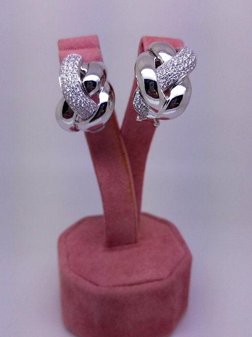 Italian design diamond earrings