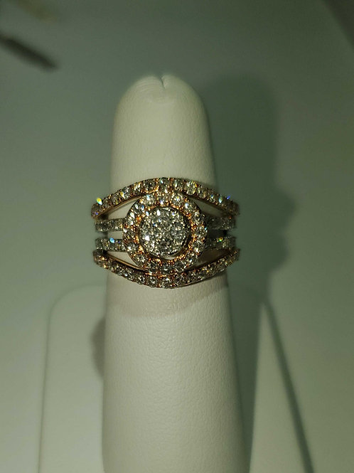 14k rose & white gold ring