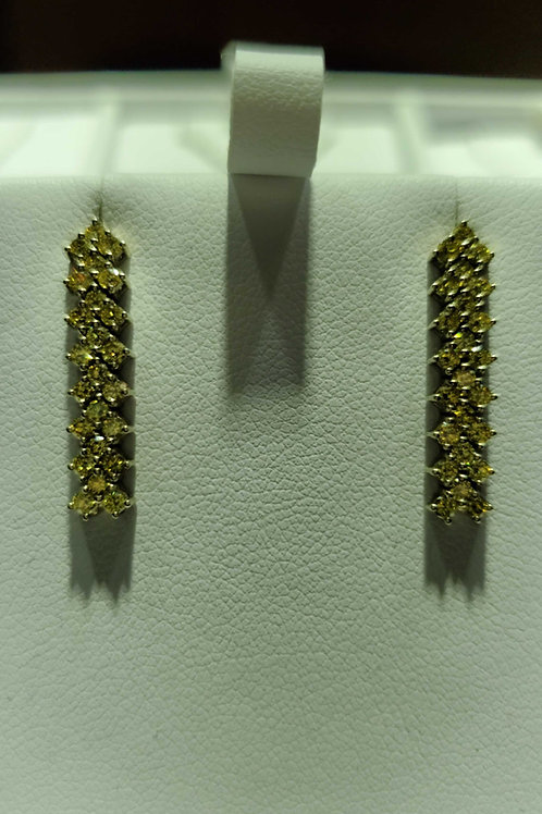 18 carat yellow gold yellow diamond earrings