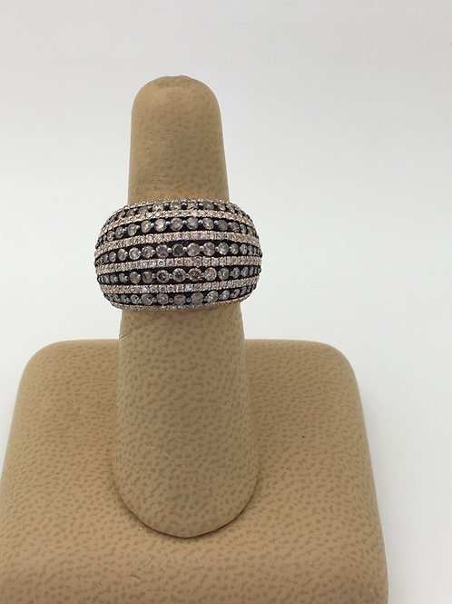 Brown & White Diamond Ring
