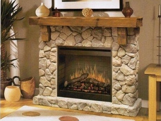 Adding a Fireplace Feature Centrepiece does not have to be a chore or expensive...