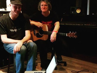 Howie Beno and Mark Panick in the Studio