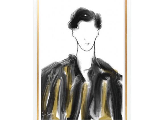 In Black & Gold stripes
