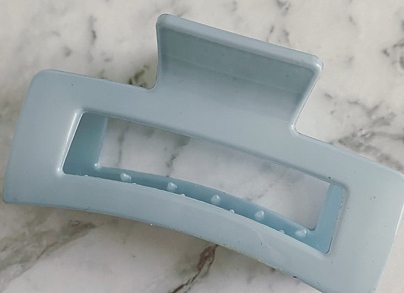 Pastel Blue Small Rectangle Hair claw