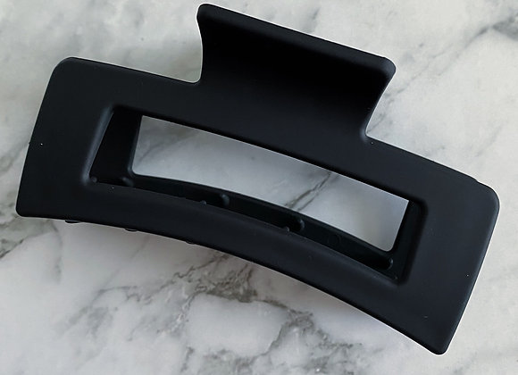 Black Modern small Hair Claw (Rectangle)