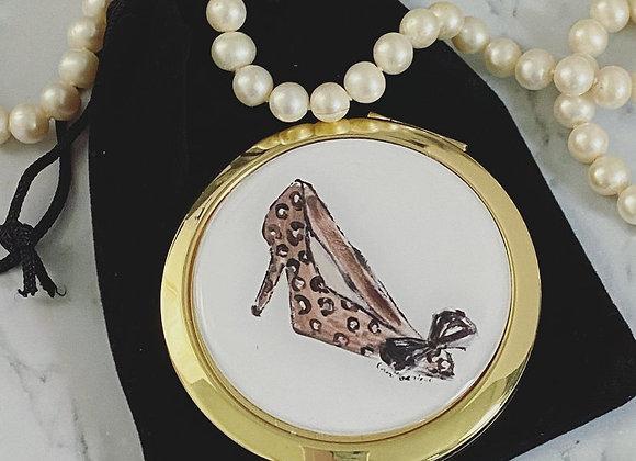 Compact Mirror - Leopard Heel
