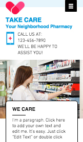 Health website templates – Pharmacy