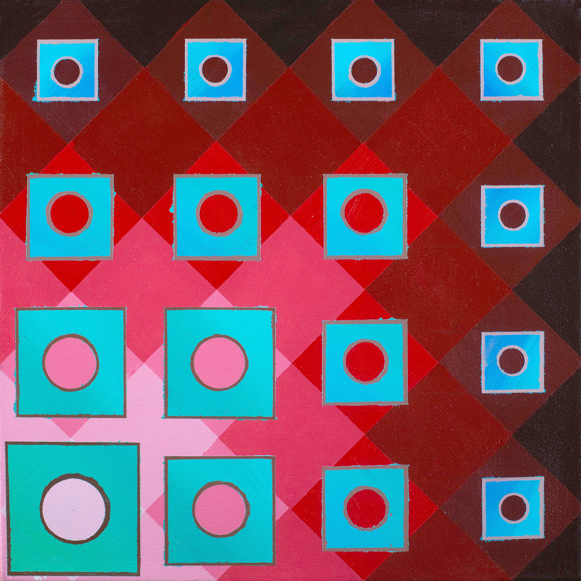 Fading Squares Over Reds
