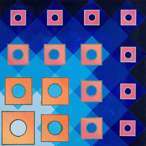 Fading Squares Over Blues