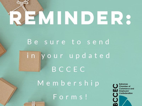 BCCEC Reminder: Updated Membership Forms