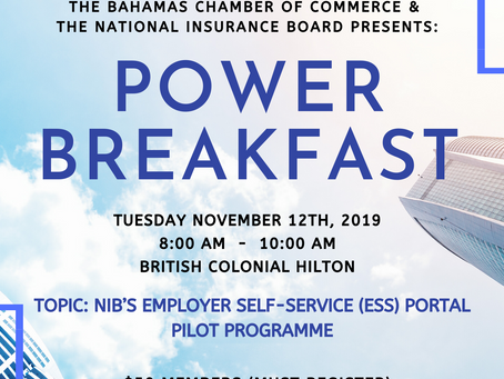 Important Notice: Power Breakfast Event Date Changed to Tuesday November 12th, 2019