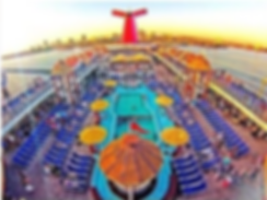 Carnival Imagination Cruise ship Pool Deck Hot tubs Lounge