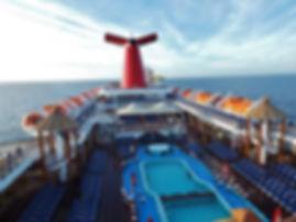Carnival Imagination Cruise ship pool hot tub view dun deck