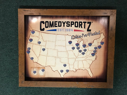 ComedySportz Cities I've Visited Map