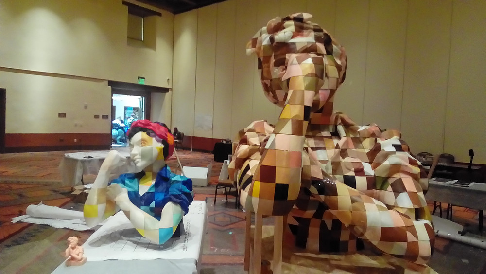 "The final six-feet tall crowdsourced 3D-printed sculpture of Rosie the Riveter will be displayed at the New Mexico History Museum in Santa Fe for all to see. A six-inch clay sculpture was first created by Baltimore, M.D. artist Jen Schachter then 3D scanned and scaled up to six feet by the ""We the Builders"" initiative, founded by Todd Blatt."