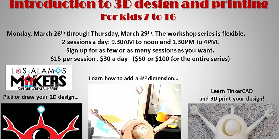 Introduction to 3D design and printing