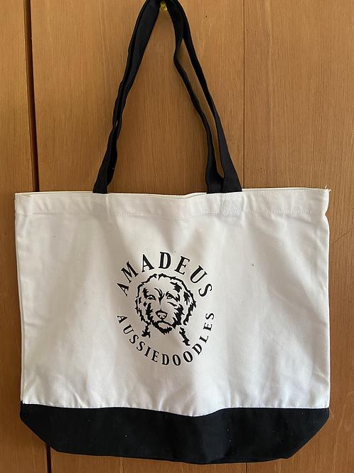 Logo Two-Tone Tote Bag