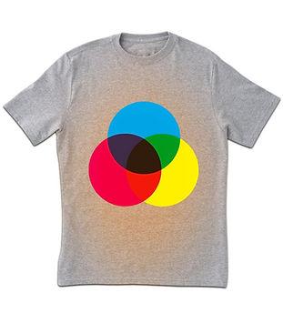 Spectre de couleur T-shirt imprimé