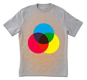 Color Spectrum Print T-Shirt