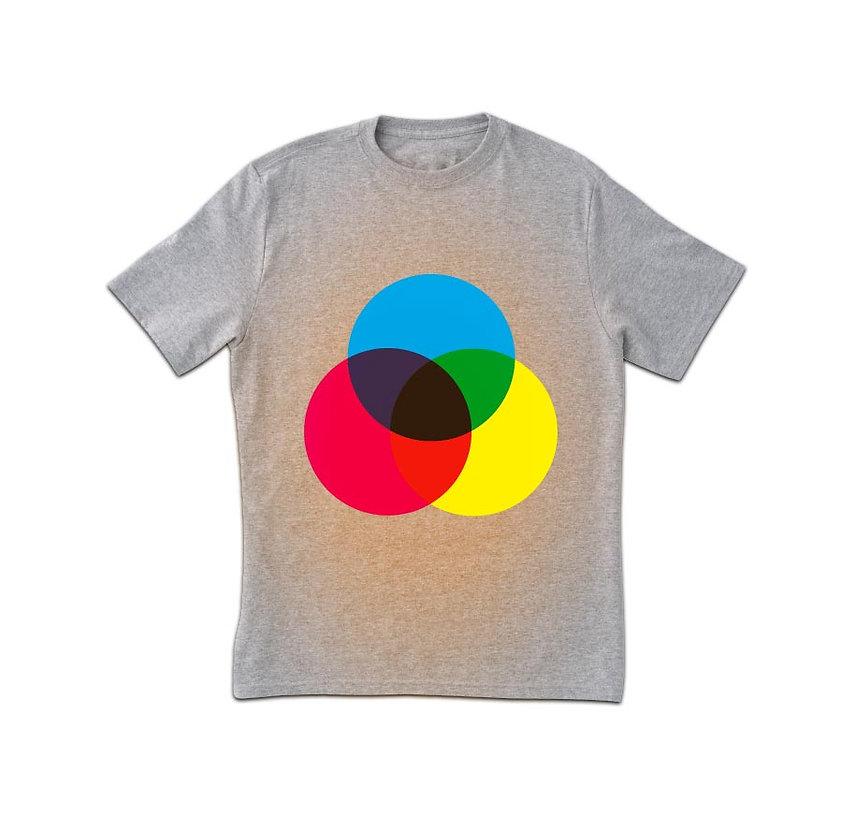 Farbspektrum-Druck-T-Shirt