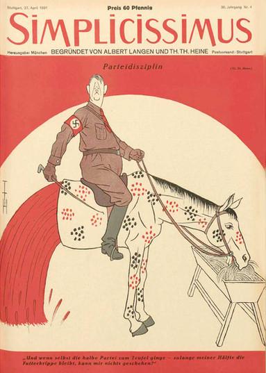 """Heine hitlerapril1931 """"Party Discipline"""""""