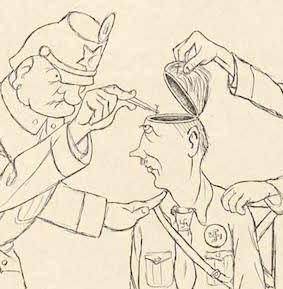 Heine 1929 Ergebnislose Haussuchung bei