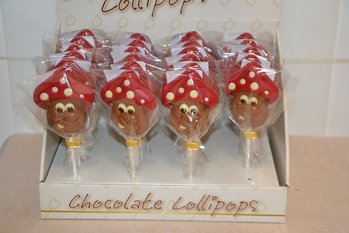 Lollie paddenstoel melkchocolade