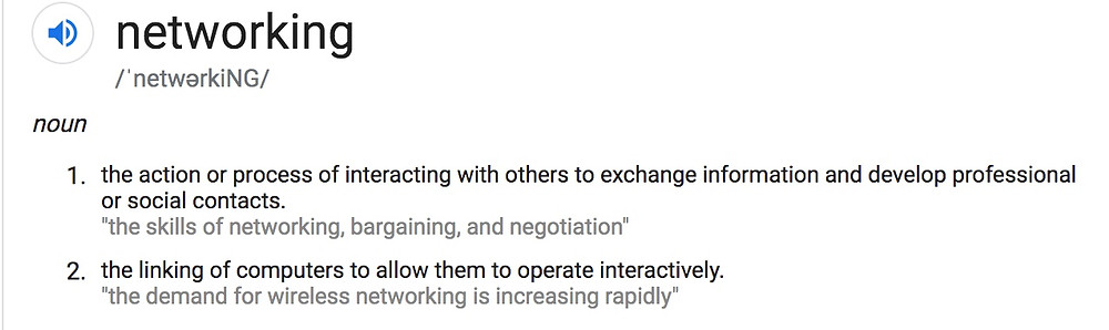Google's definition of Networking